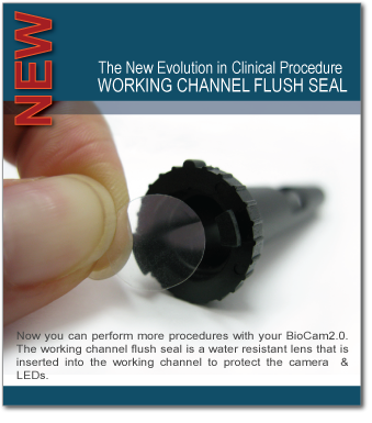 WORKING CHANNEL FLUSH SEAL- NEW BIOCAM PRODUCT
